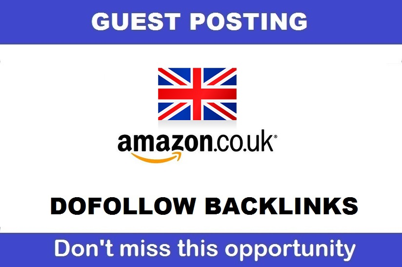 Guest post with DOFOLLOW Backlink on Amazon Amazon. c...
