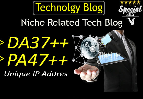 Write And Publish Guest Post On DA37 Technology Blog