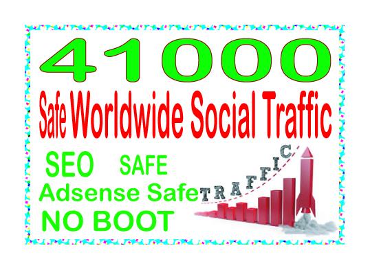 Get 41000 Human of web traffic from social & organic web traffic