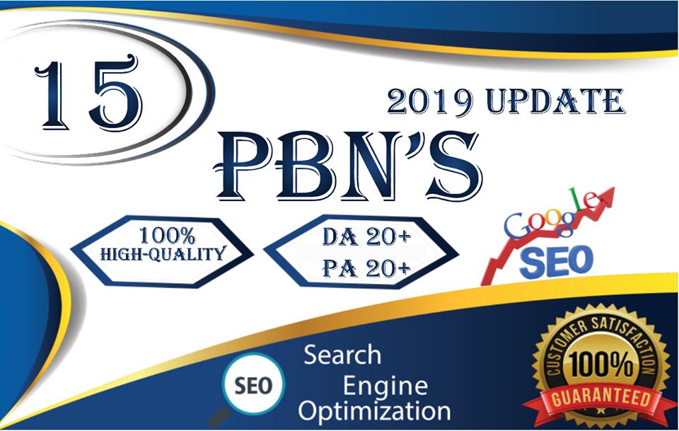 Manual 15 Homepage Pbn Links Da 20+ And Tf 20+