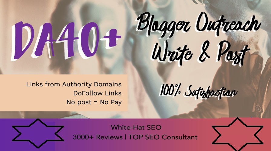 Guest post DA40+ Link Building Do Follow Blogger outreach