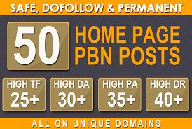 Do 50 Homepage Dofollow Pbn High Quality Seo Backlinks