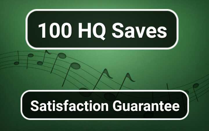 100 Saves for Album Or Track Boost your Sp0tify song