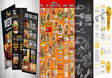I Do All Sized Editable Restaurant Menu, Food Menu