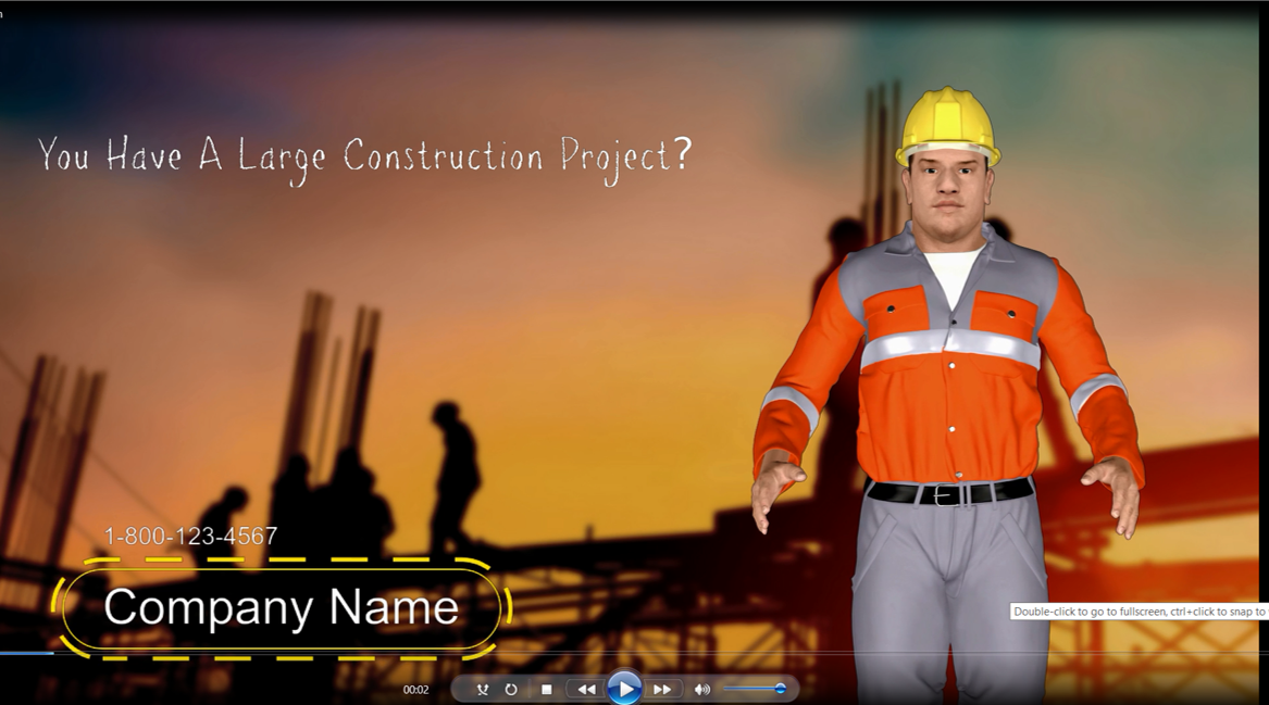 3D Avatar Animation Local Promotion Video Construction