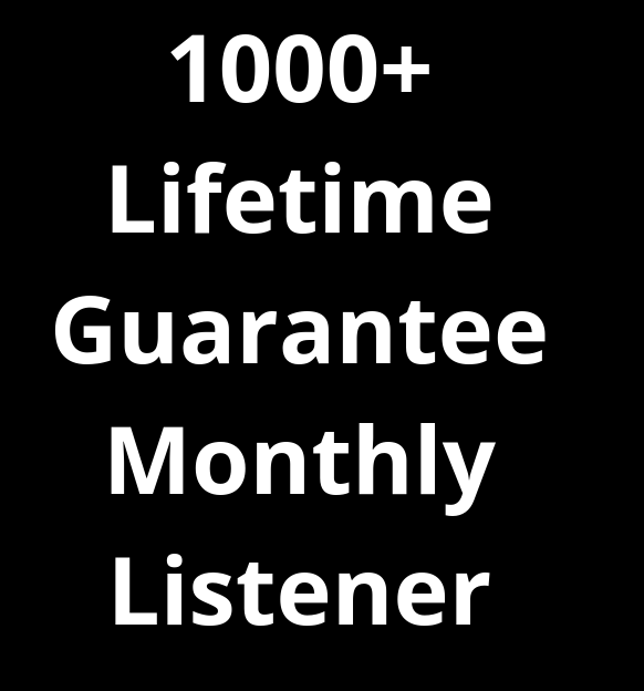 Get High Quality 1000+ Montly Listener For Your Track