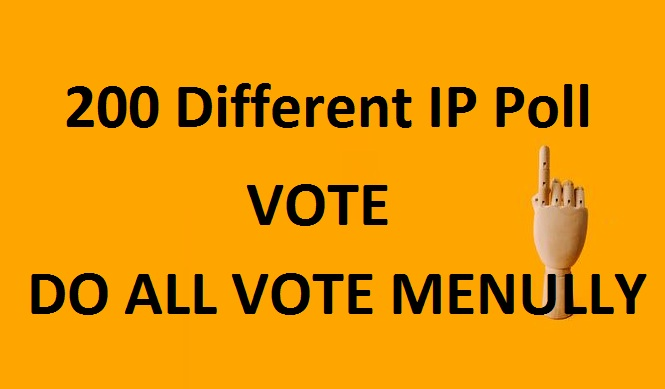 Get hq 200 Different IP Votes For Any Online Voting Contest