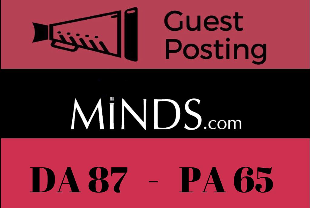 Publish a Guest Post on Minds - Minds. com - DA 87