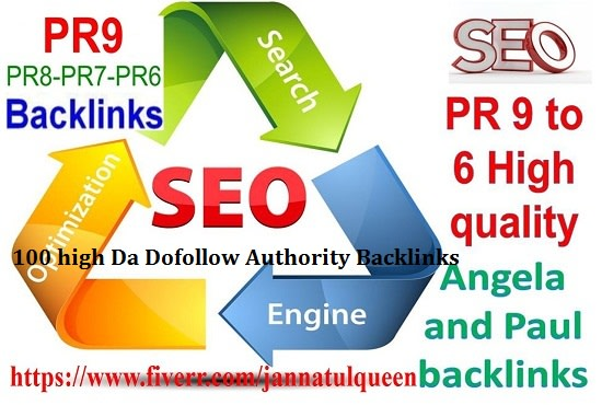 Manual create 30 high da dofollow authority backlinks