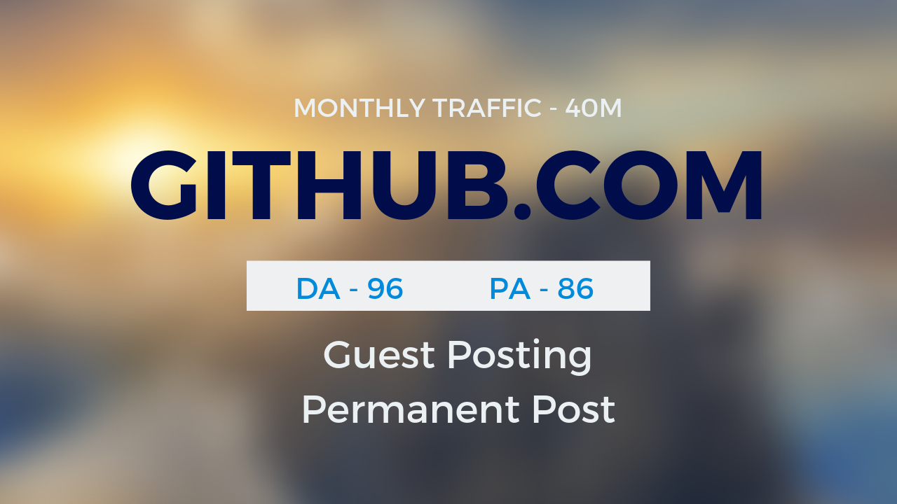 Publish Guestpost on GITHUB. COM