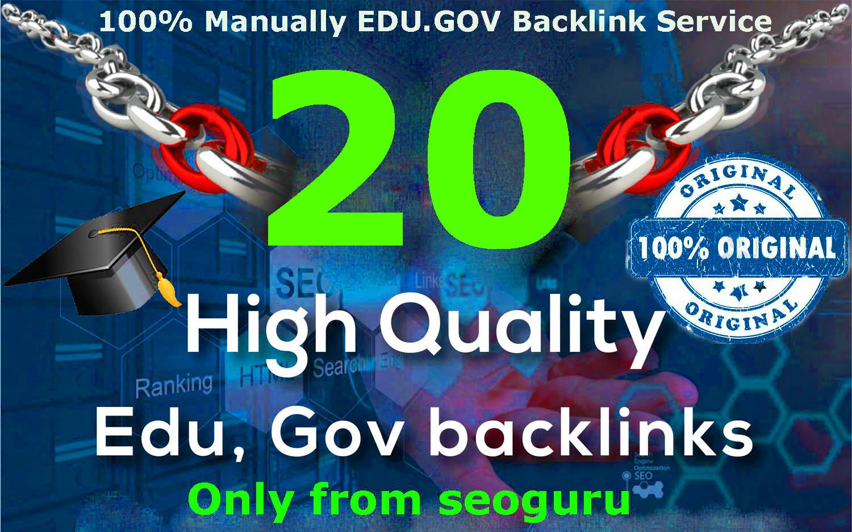 Creat 20+ EDU-GOV Safe SEO Backlinks Authority Domain to Boost Your Google Ranking