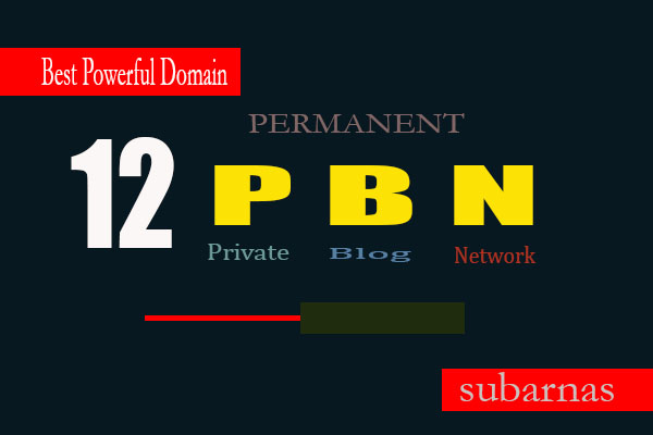 Manually 12 Permanent High Quality Da PBN Links