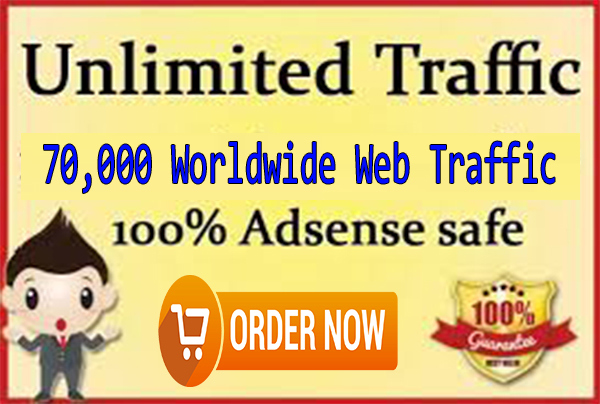 Adsense Safe 70,000 Worldwide High Quality Real Human Traffic