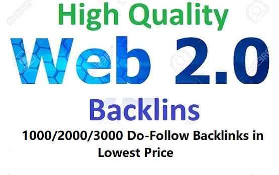 Create 1000 High Authority Web 2.0 Do-Follow Backlinks For Your Website