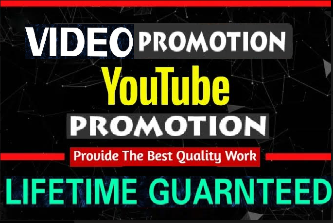 NON-DROP & HIGH QUALITY PROMOTION Youtube Promotion 4 hrs delivery time