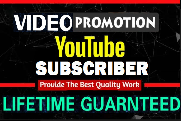 Real Channel Promotion Guaranteed Non Drop And Instant Start Via real user