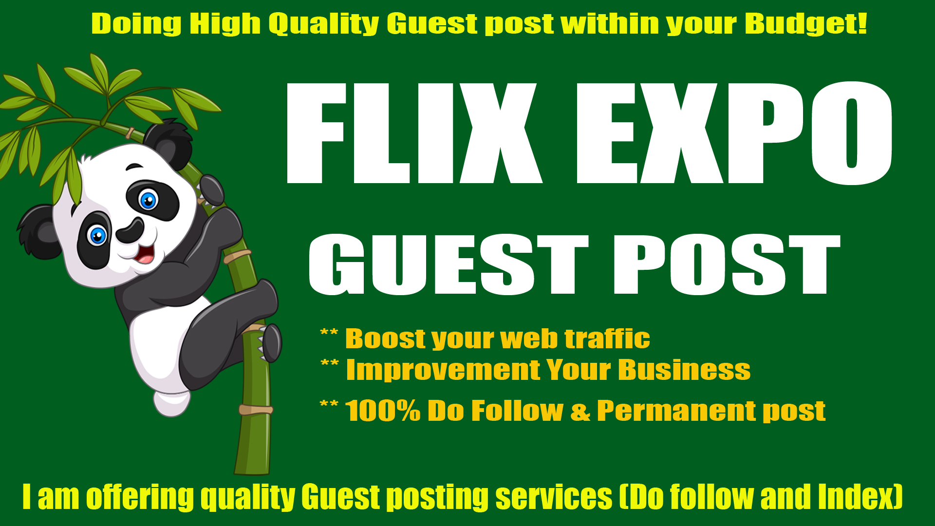 Write & publish Guest post on Flix Expo with Quality Content Marketing