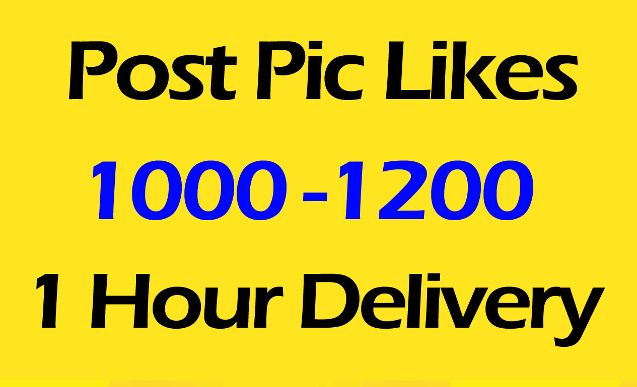 1000 to 1200 Pictures Post Promotion and Marketing with 1 min Delivery time