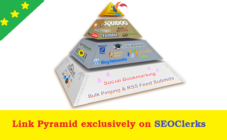 Rank on Google 1st Page with Exclusive Link Pyramid of 3500+ Backlinks