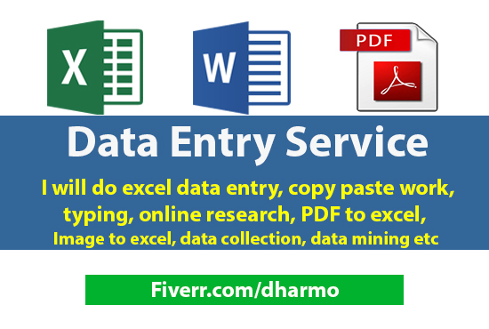 Any Type of Data Entry Work