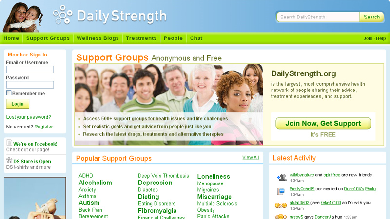 Give you guest post on dailystrength backlink- DA-77
