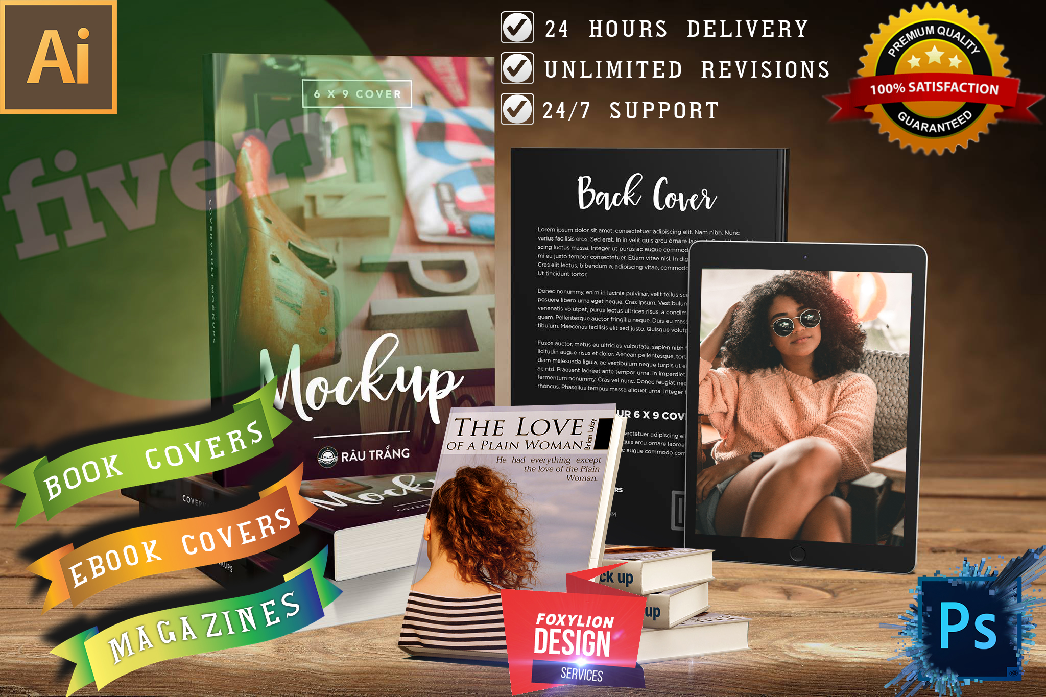 Get a creative ebook, magazine, kindle cover Design in 24hours