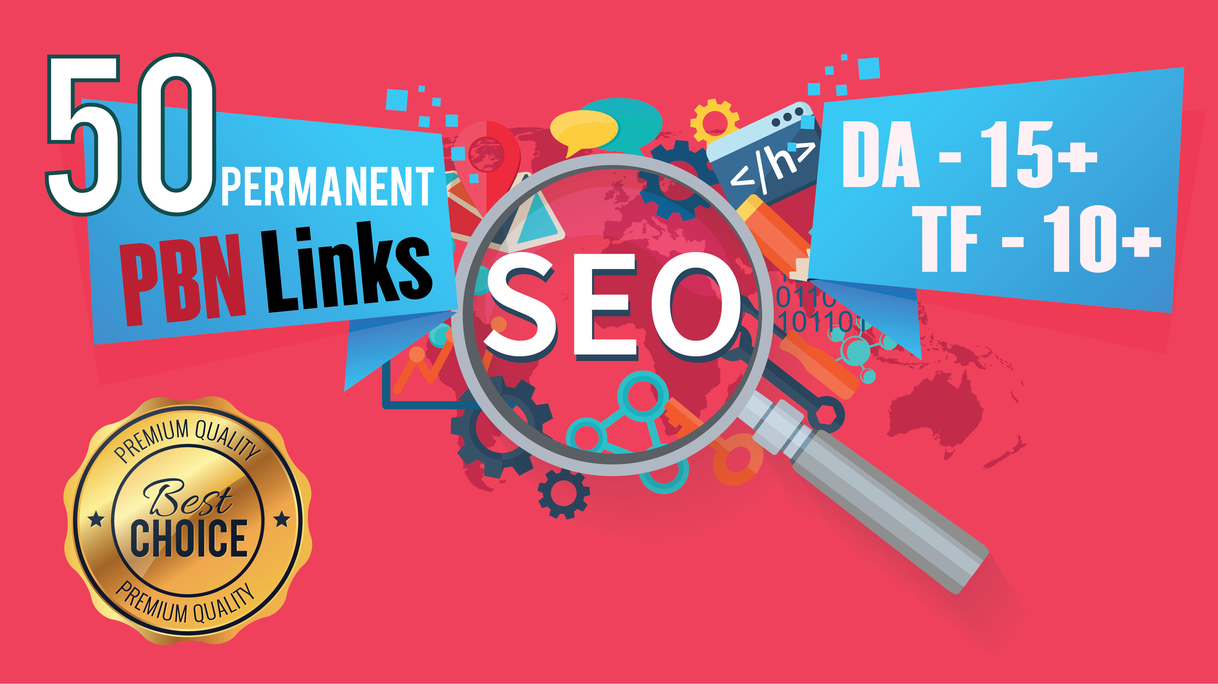 Permanent 50 Homepage High Metrics DA PA TF CF Dofollow PBN Backlinks