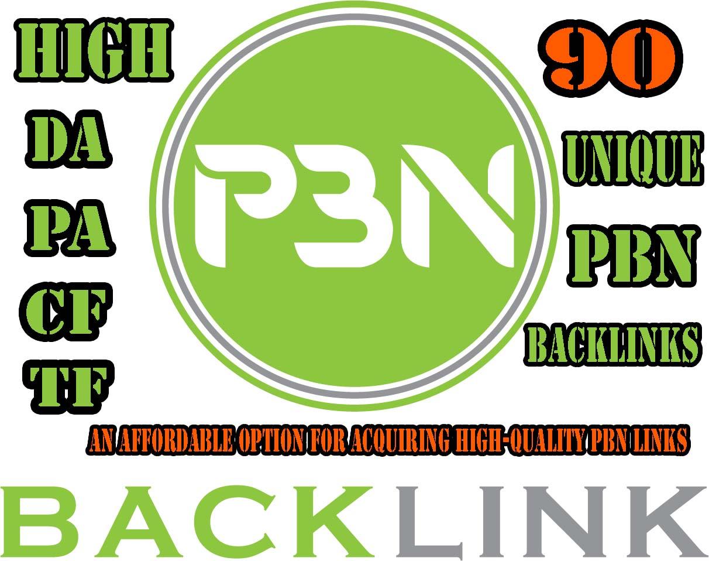Create High DA PA 90 Unique PBN Backlinks SEO Service