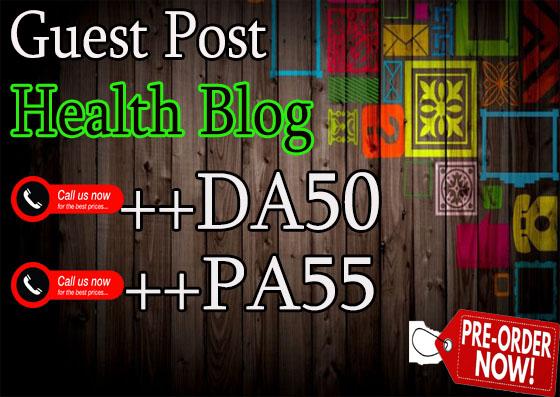do guest post on hq da50 Health blog