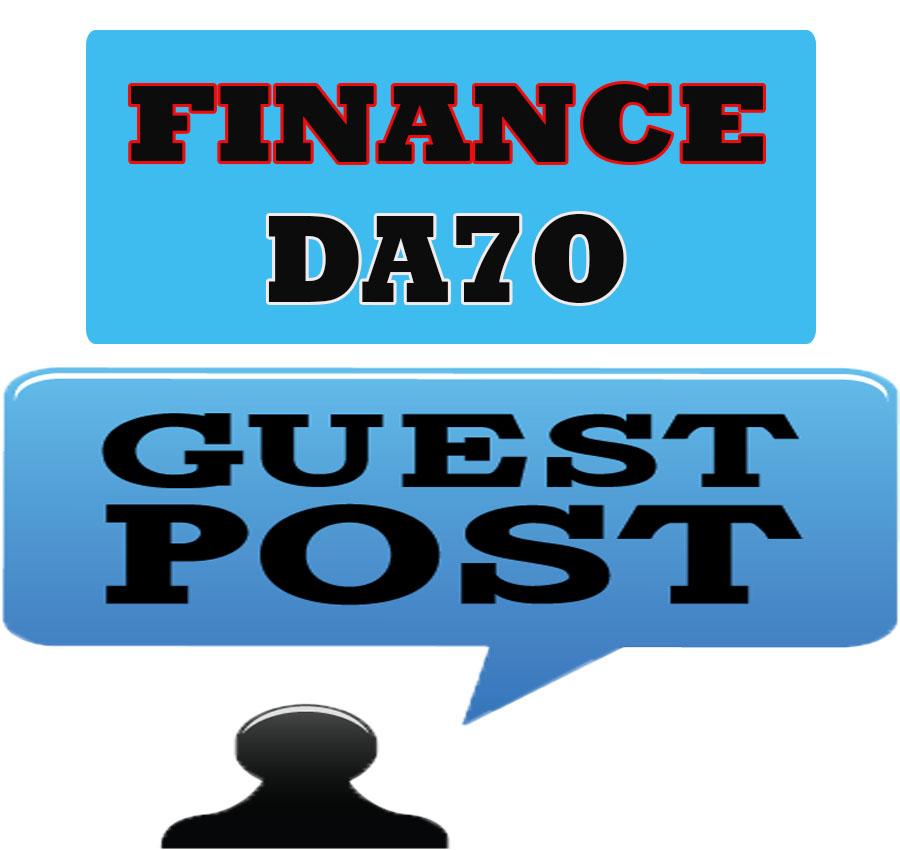Guest post permanent in finance blog DA70x1