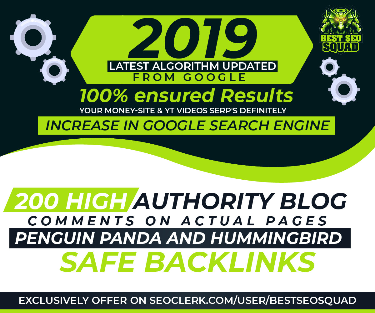 Manually Create 200 Blog Comments High Quality Dofollow Backlinks