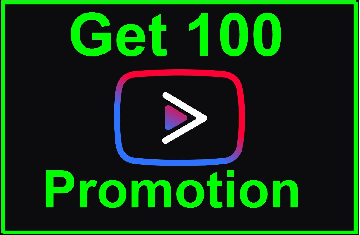 Get 100 Social Media Promotion Non-Drop Guaranted