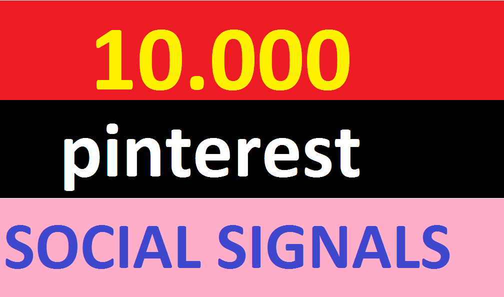 10,000 pinterest Social Signals Come From Top 1 Social Media Sites