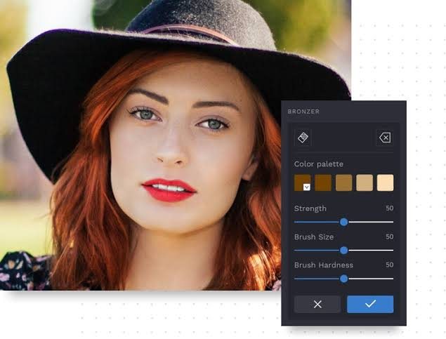 Photo editor image editing and retouch enhance quality