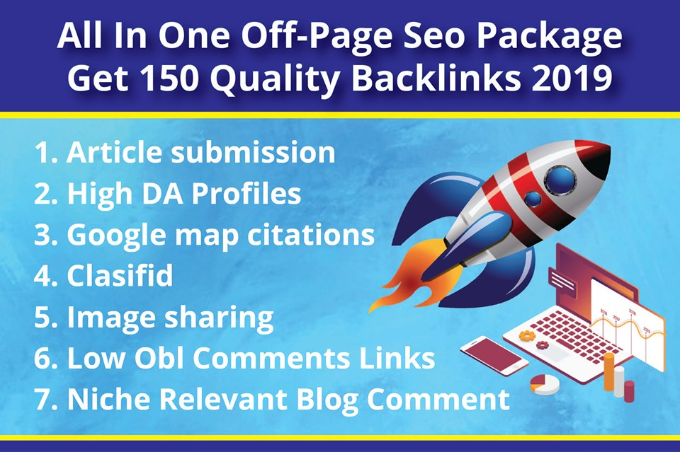 All In One Off-Page SEO Package Get 150 Quality Backlinks 2019