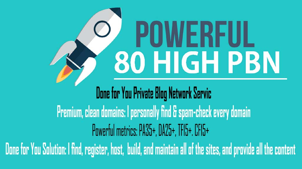 80 PowerFul High PBN Permanent Manual Homepage PBN Links