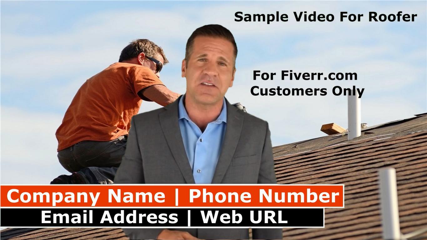 Create a spokesperson promo video for Roofing company
