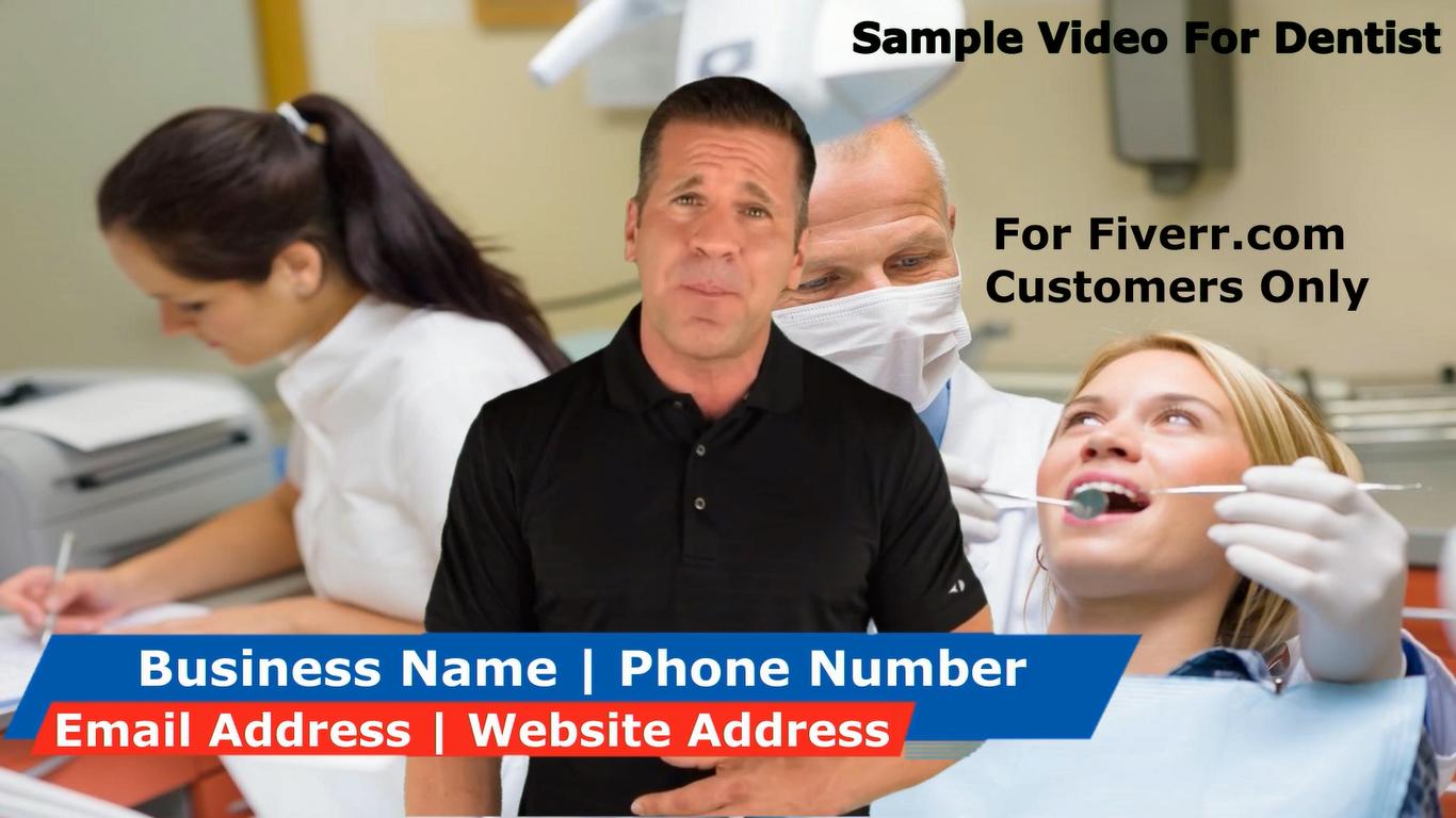 create a spokesperson promo video for Dentist