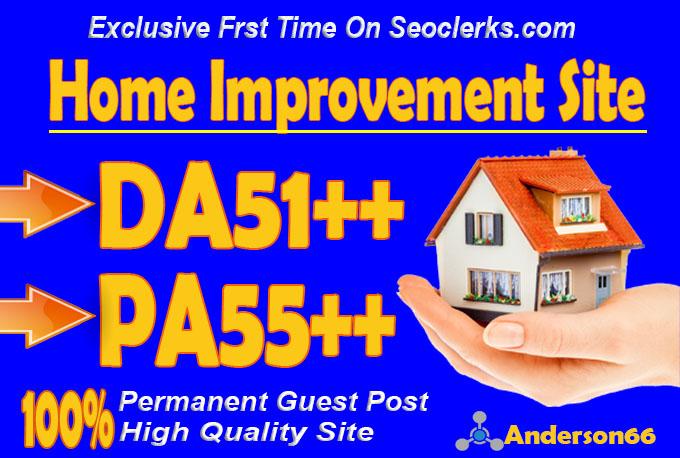 do guest post in DA51 HQ Home Improvement blog
