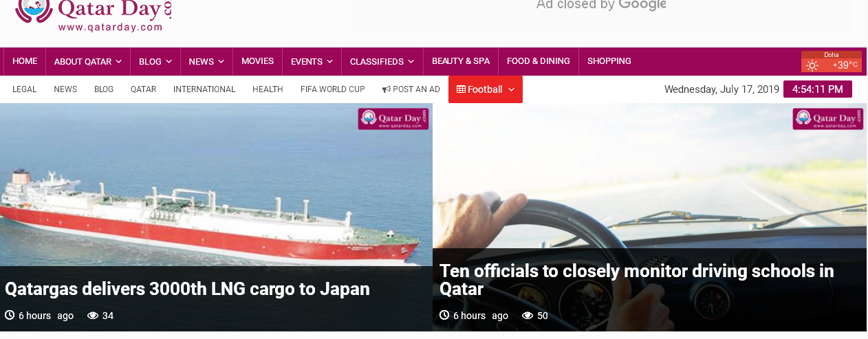 Publish Indexed/Dofollow article on Qatarday. com DA-42