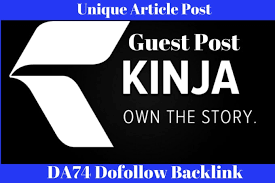 I Can Write Article And Publish A Guest Post On Kinja DA 75