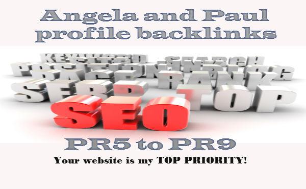 I will do 20 Paul And Angela Profile Back Links