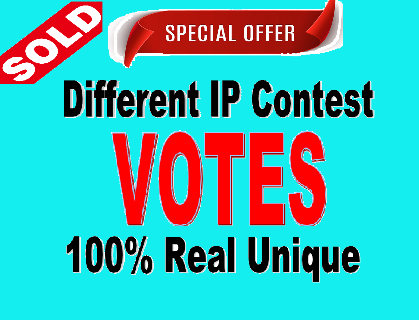 Give you 500 Different ip Votes Singles Clicks Poll Contest