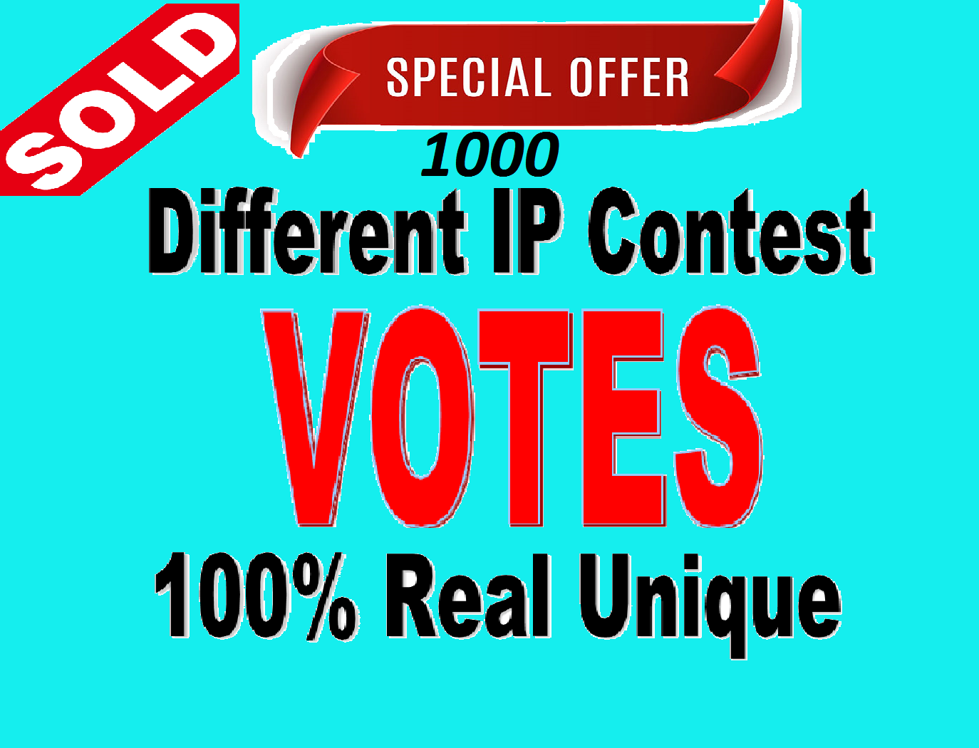 Give 1000 Different ip Votes Single Click Poll Contests
