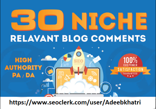 Get 35 High Quality Niche Relevant Blog comments Backlinks With Low OBLs