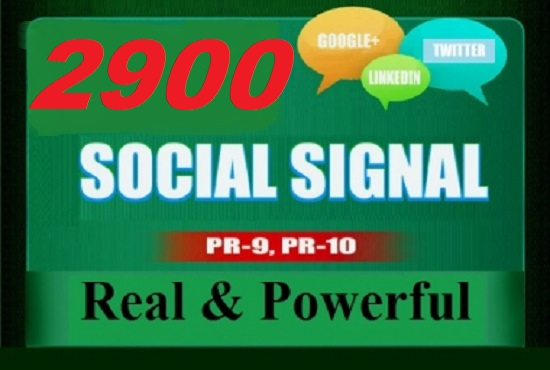 Wonderful 2900 top SEO social signals