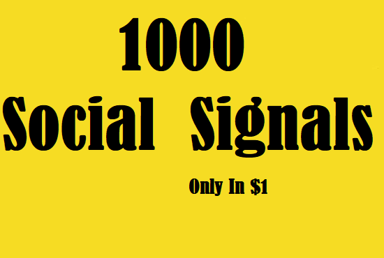 1000 Athentic Social Signals