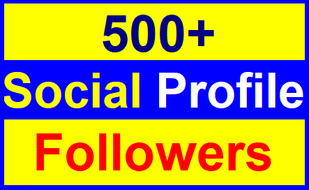 Add 500+High Quality Profile Followers Super Fast Just
