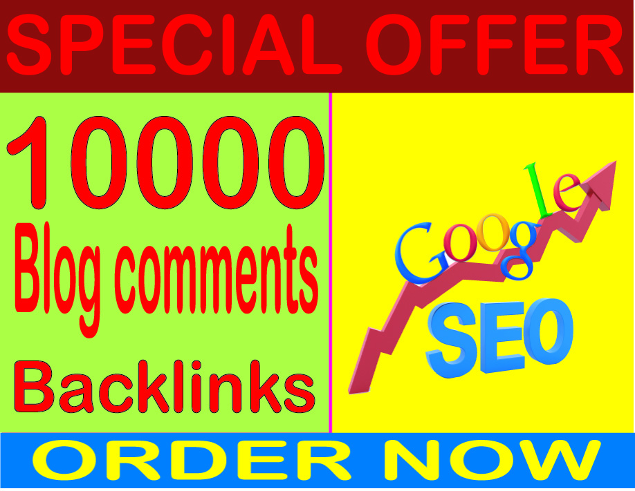 Boost SEO- Submit 10000 Blog/image/other comments High PR Metrics Backlinks