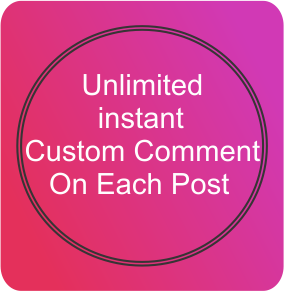 Quick Custom Comments on Video or Post